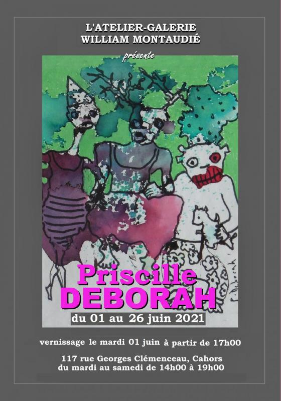 Affiche expo Priscille Deborah
