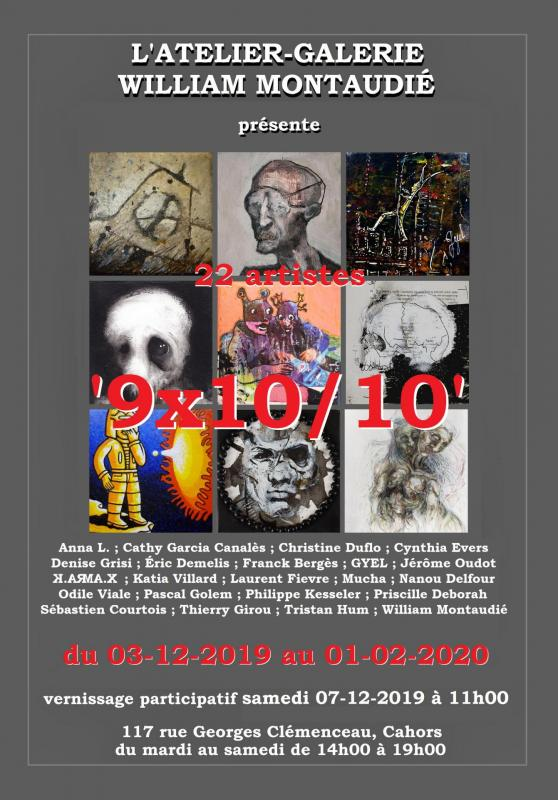 Affiche expo '9x10/10'