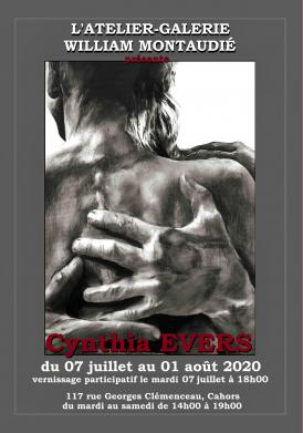 Affiche expo Cynthia Evers